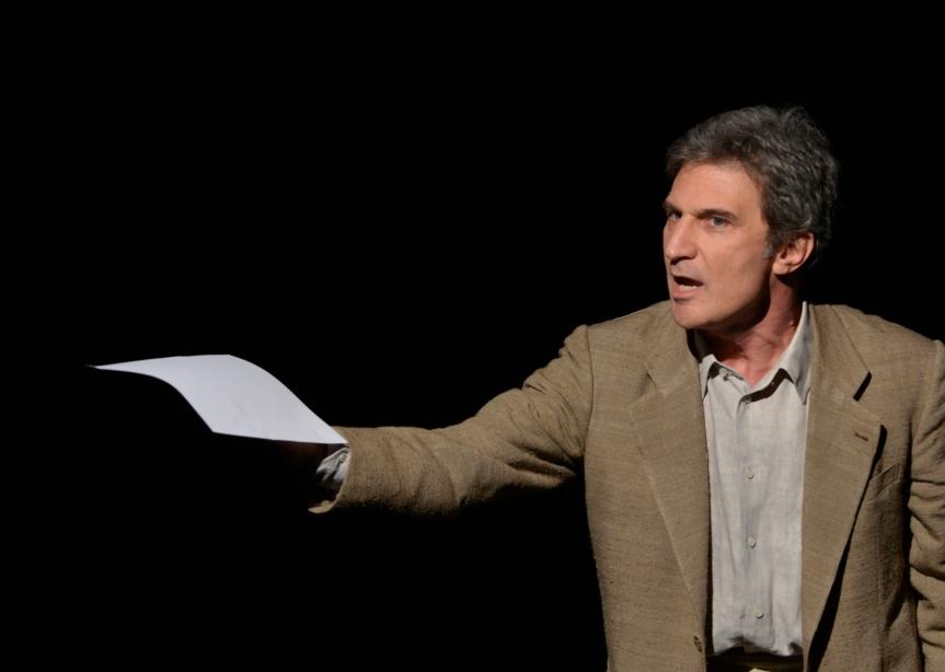 La neve del Vesuvio: l'attore inscena